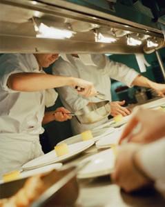 scivolamento in cucina