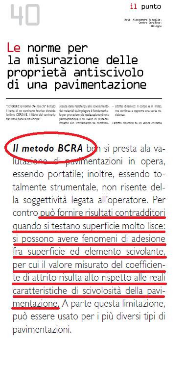 tortus test decreto legge 81/2008 antiscivolo